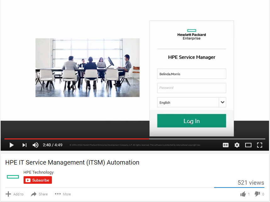 HPE IT SERVICE MANAGEMENT (ITSM) AUTOMATION